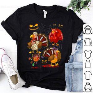 Premium Turkey Happy Halloween Cute Mummy Witch Pumpkin shirt