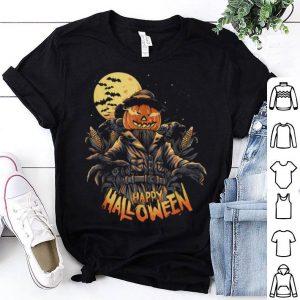 Scarecrow With Jack O Lantern Head, Happy Halloween shirt