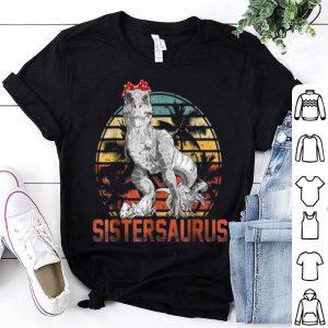 Top Sistersaurus T rex Sister Saurus Dinosaur Girls Kids shirt