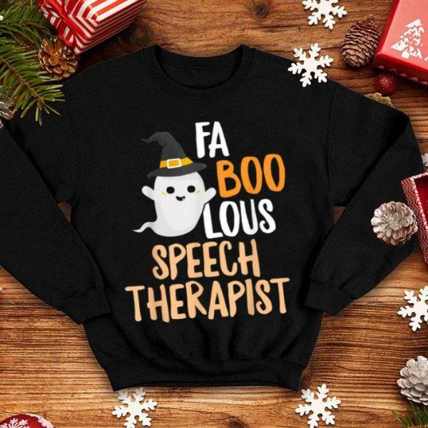 Top Speech Teacher Therapist Faboolous Halloween Outfit shirt