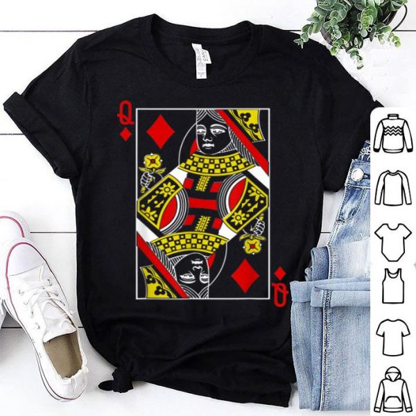 Awesome Queen Of Diamonds Cute Playing Card 2019 Halloween shirt