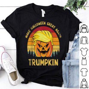 Awesome Trumpkin Funny Trump Make Halloween Great Again Vintage shirt