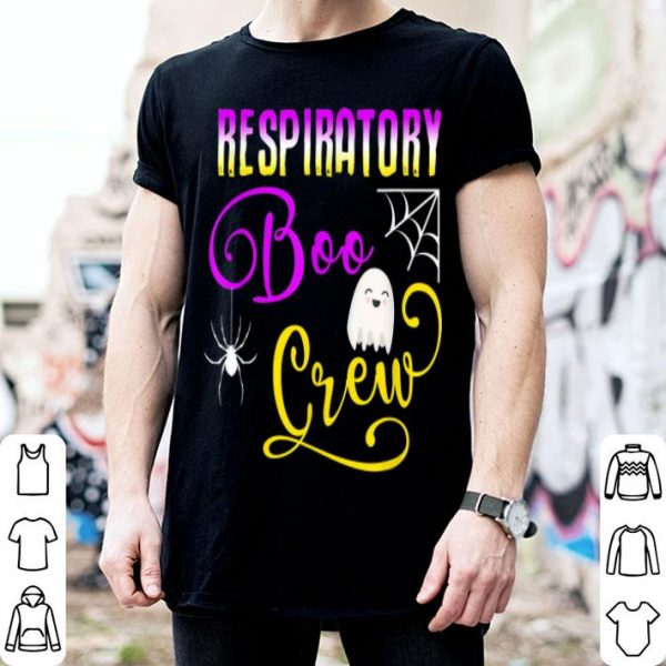 Beautiful Cute Respiratory Boo Crew Ghost Spider Halloween RT shirt