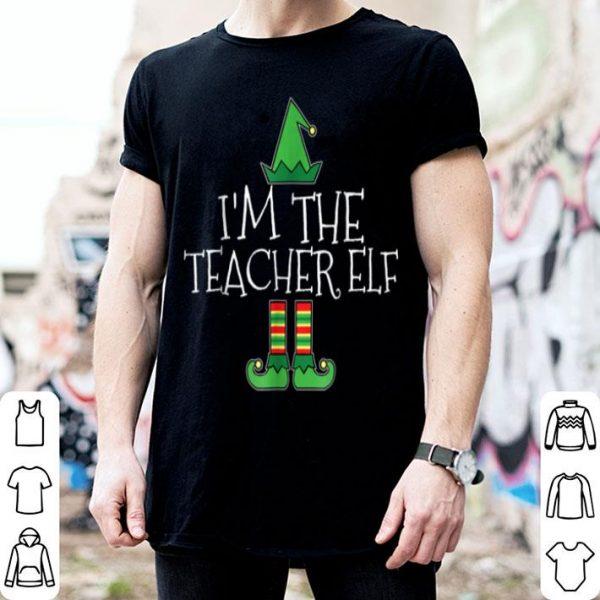 Beautiful I'm The Teacher Elf Matching Family Group Christmas shirt