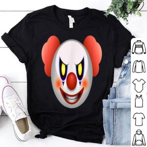 Beautiful Scary Halloween Emoticon Clown shirt