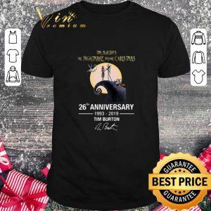 Cool Tim Burton's The Nightmare Before Christmas 26th anniversary shirt