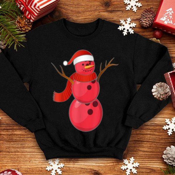 Funny Bowling Christmas Snowman Red Santa Hat Scarf Pajama Gifts shirt
