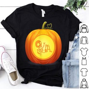 Funny Don't Eat Pumpkin Seeds Baby Skeleton Pregnancy Halloween shirt