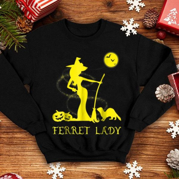 Funny Ferret Lady Witch Lover Halloween Costume shirt