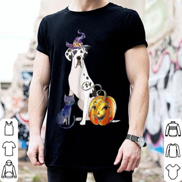 Funny Great Dane Dog Halloween Harlequin shirt