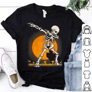 Funny Halloween For Boys Kids Dabbing Skeleton Costume Dab shirt