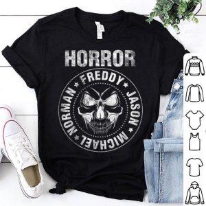 Funny Horror Punk Rock Style Freddy, Jason, Michael, Norman Skull shirt
