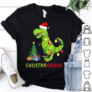Nice Christmasaurus Funny Dinosaur Christmas Lights Ugly Tree Hat shirt