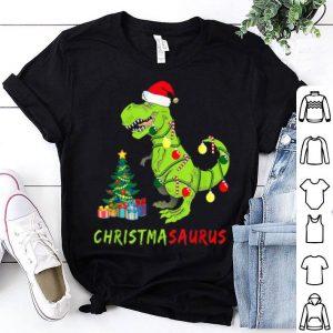 Nice Christmasaurus Funny Dinosaur Christmas Lights Ugly Tree Hat shirt