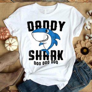 Nice Daddy Shark Father Grandpa Halloween Christmas shirt