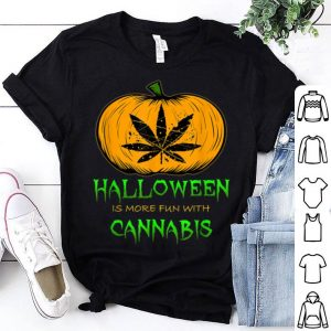Nice Halloween THC 420 Pumpkin Carving Stoner Cannibus Smoking shirt