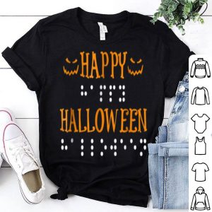 Nice Happy Halloween Braille Dots shirt