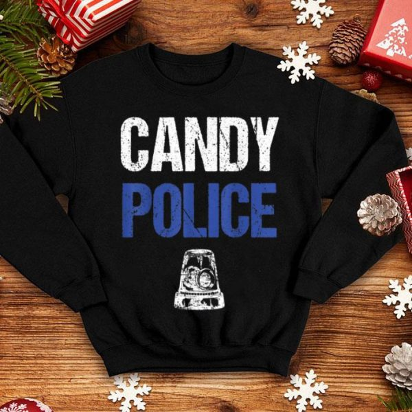 Official Candy Police Funny Halloween Gift For Kids Boys Men Women shirt