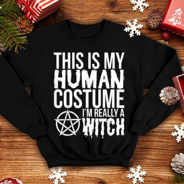 Official Halloween Funny Gift - This Is My Human Costume Witch shirt