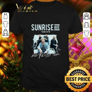 Official Sunrise Avenue Tour 2019 Little Bit Love Signatures shirt