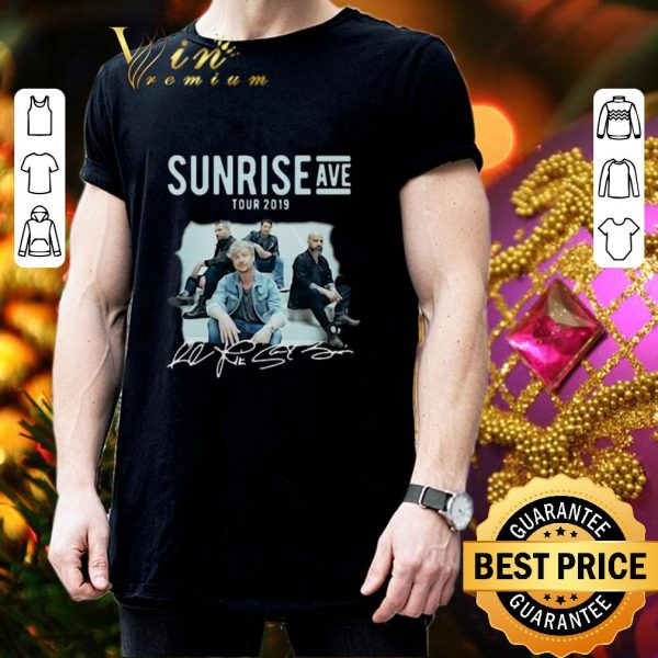 Official Sunrise Avenue Tour 2019 Little Bit Love Signatures shirt