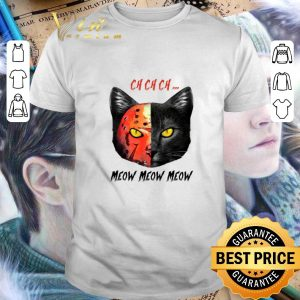Original Black Cat Ch Ch Ch Meow Meow Meow Jason Voorhees shirt