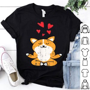 Premium Corgi Dog Hearts Yoga Meditating Cute Pet Halloween Gift shirt