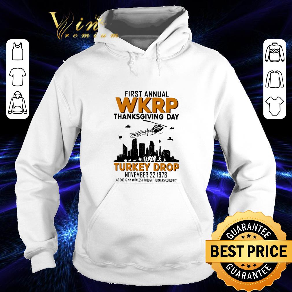 Premium First annual wkrp thanksgiving day Turkey drop november 22 1978 shirt 4 - Premium First annual wkrp thanksgiving day Turkey drop november 22 1978 shirt