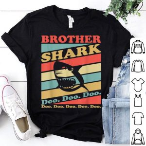 Premium Retro Vintage brother Shark Halloween Christmas shirt