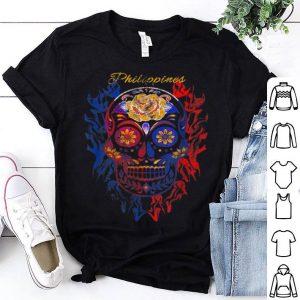 Top Filipino Philippines Skull Halloween Gift shirt