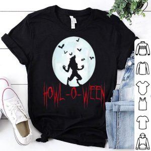 Top Howl-O-Ween Werewolf Full Moon Halloween shirt