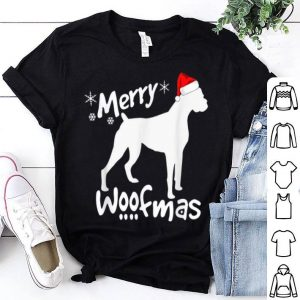 Awesome Boxer Dog Christmas - Merry Woofmas shirt