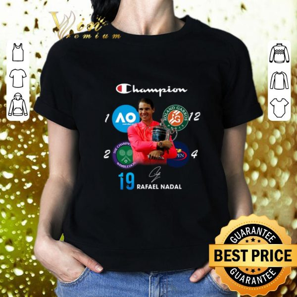 Awesome Champion Wimbledon Rafael Nadal 19 Roland Garros US Open shirt