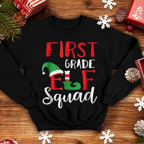 Awesome Christmas Elf Squad First Grade Teacher Gift shirt
