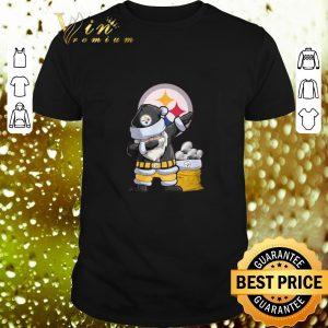Awesome Dabbing Santa Pittsburgh Steelers Logo Christmas shirt