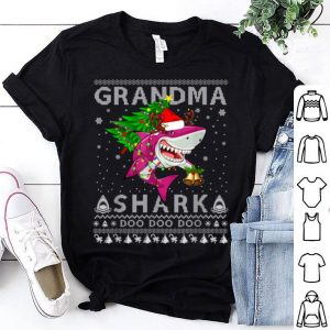 Awesome Grandma Shark Santa Christmas Family Matching Pajamas shirt