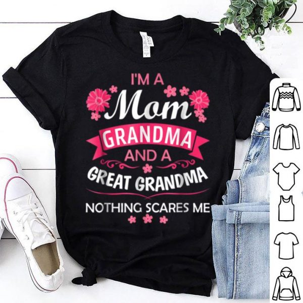 Awesome I'm A Mom Grandma Great Nothing Scares Me Christmas sweater