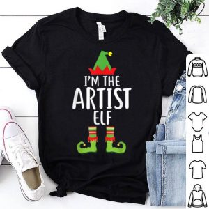 Awesome I'm the Artist Elf Matching Family Group Christmas shirt