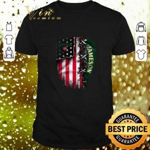 Awesome Jameson Irish Whiskey inside American flag shirt