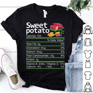 Awesome Sweet Potato Nutrition Facts Thanksgiving Costume Christmas shirt