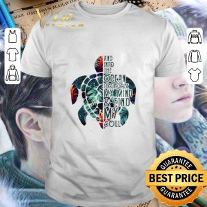 Awesome Turtle floral and into the ocean i go to lose my mind shirt
