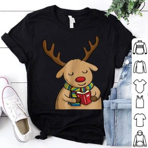 Beautiful Funny Cute Christmas Reindeer Reading Book sweater