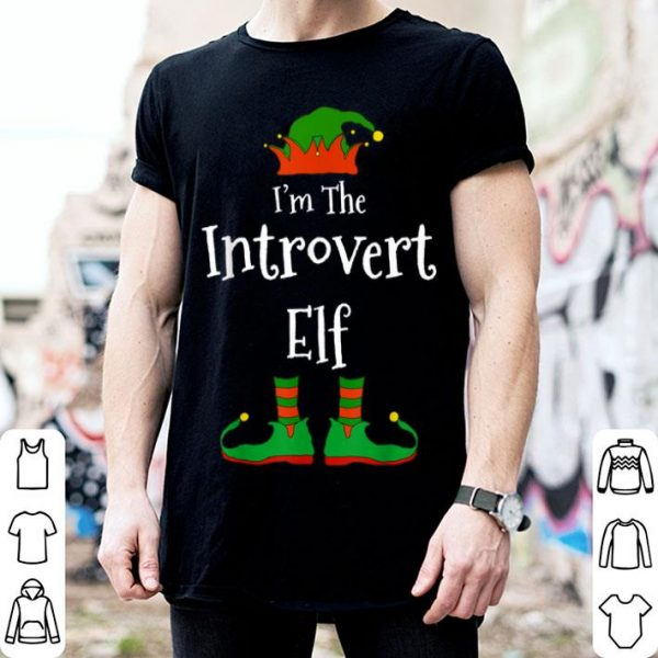 Beautiful I'm The Introvert Elf Family Matching Funny Christmas Gift shirt