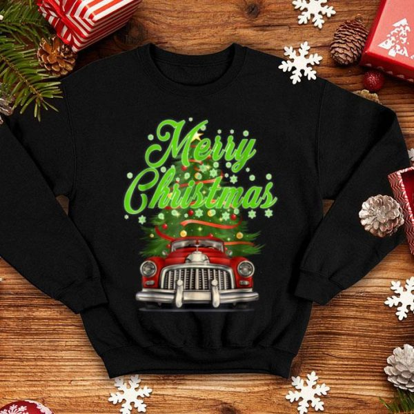 Beautiful Merry Christmas Vintage shirt Red Truck with Tree shirt