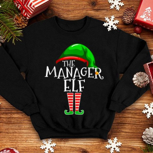 Beautiful The Manager Elf Group Matching Family Christmas Gifts Boss shirt