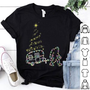 Hot Bigfoot and Go Camping Christmas Lights Xmas gift sweater