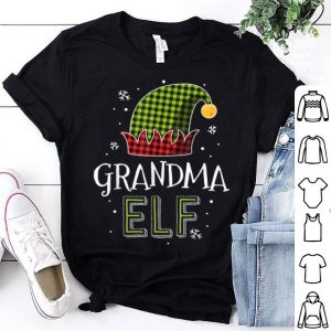 Hot Grandma Elf Mama Christmas Matching Family Pajamas shirt