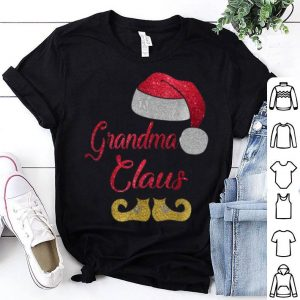 Hot Grandma Santa Claus Christmas Xmas Matching Family Gift Tee shirt
