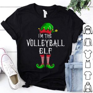 Hot I'm The Volleyball Elf Matching Family Group Christmas shirt
