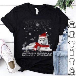 Hot Merry Dogmas Siberian Husky dog Snow Christmas Eve Xmas shirt
